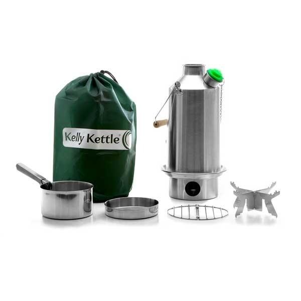 Stainless Steel 'Base Camp' Kettle (1 6ltr) - Basic Kit (New Model + Green  Whistle)