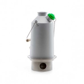 Aluminium 'Base Camp' Kettle (1.6ltr) - Basic Kit   (With Steel Fire Base + Green Whistle)