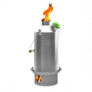 'Base Camp' 1.6 ltr (Anodised Alu. Kettle) + Whistle + Steel Fire-Base (Includes 2 FREE Sporks)