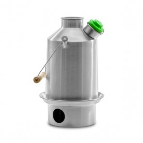 Stainless Steel 'Scout' Kelly Kettle (1.2ltr) - Basic Kit (New Model + Green Whistle)