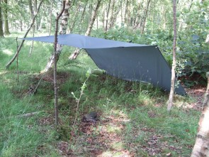 DD Tarp 3x3 mtr.    Completely waterproof, even in the heaviest storms.