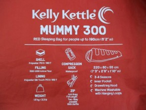 Mummy - Sleeping Bag     (Red)