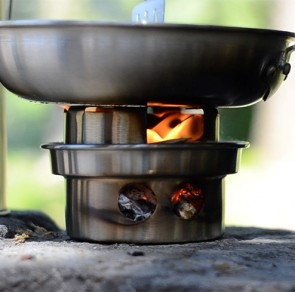 Trekker Hobo Stove accessory in action