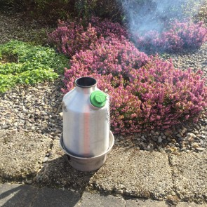 Aluminium 'Scout' Kettle (1.2ltr) - Basic Kit  (With Steel Fire Base + Green Whistle)