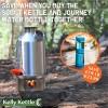 OFFER: 'Scout' 1.2 ltr Kettle (Steel) + Sagan Journey Purifier Bottle (Blue or Orchid) (FREE 6 Pack Sporks)