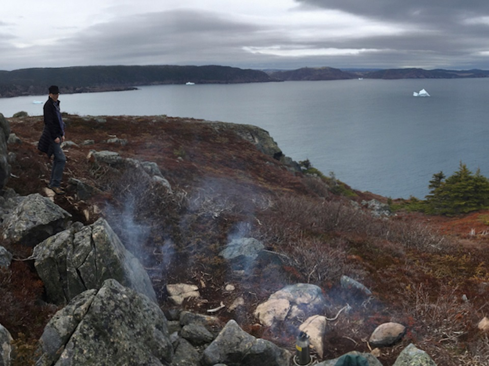 Kelly Kettle & Icebergs near St. John's, Newfoundland; May 19, 2019.