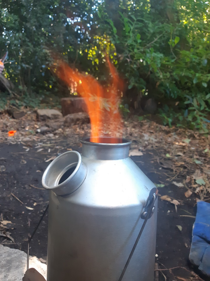 Working with special needs children in the outdoors. Cant show them working due to child protection issues. But they now fill,light, and boil the kettle and make the staff and each other hot chocolate. Not bad for children who cant sit still in class and normally fight and bicker over a pencil.
