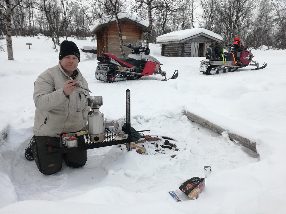 My best friend and I went on a one week snowmobile trip from my home in Northern Lapland to the ice sea in Norway. There's no better thing than having a coffee break or an instant soup in the wilderness. Needless to say Kelly Kettle did a great job in the cold.