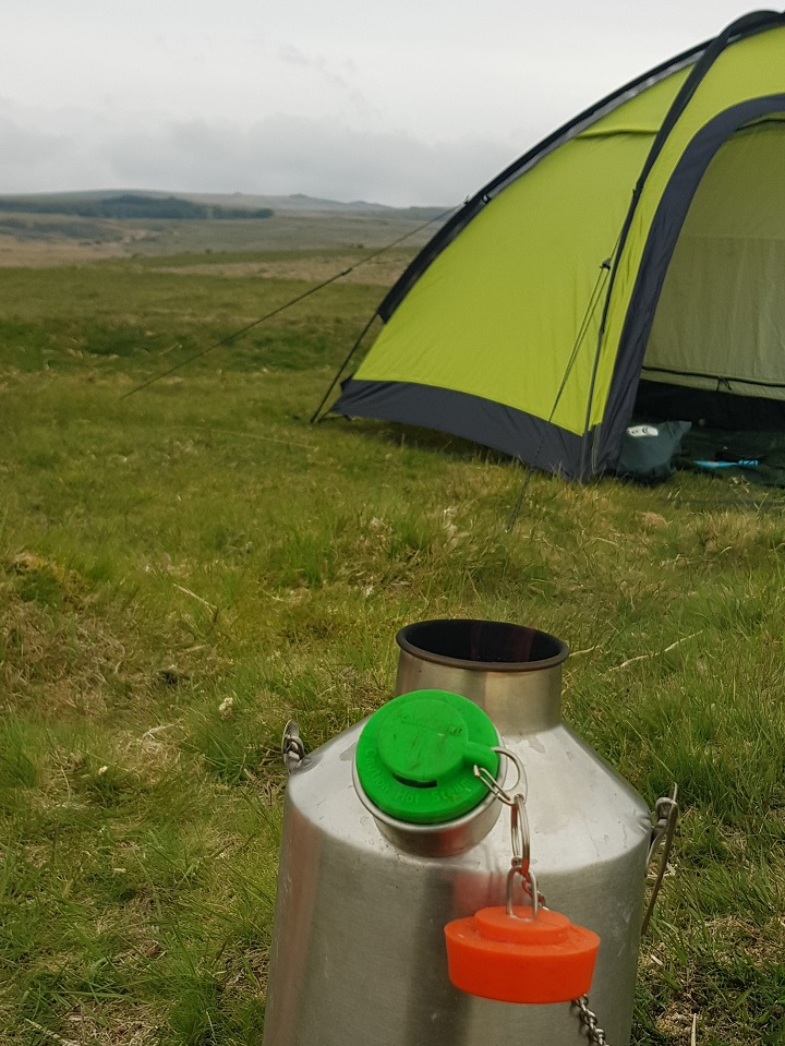 Wild camping on Dartmoor (National Park, U.K.)