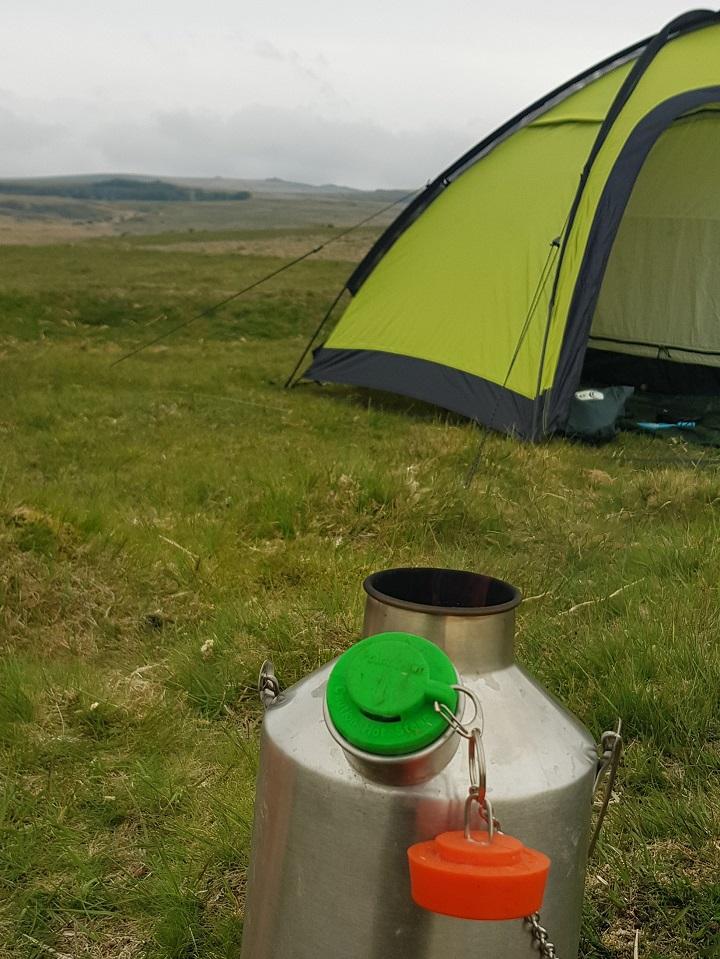 Wild camping on Dartmoor (National Park, U.K.)