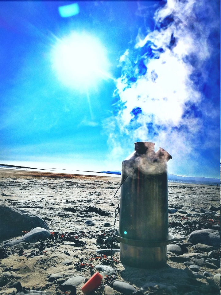 #whereDoYouUseYours It's never to warm for a hot cup of coffee made by my #KellyKettle.  Donegal. Ireland