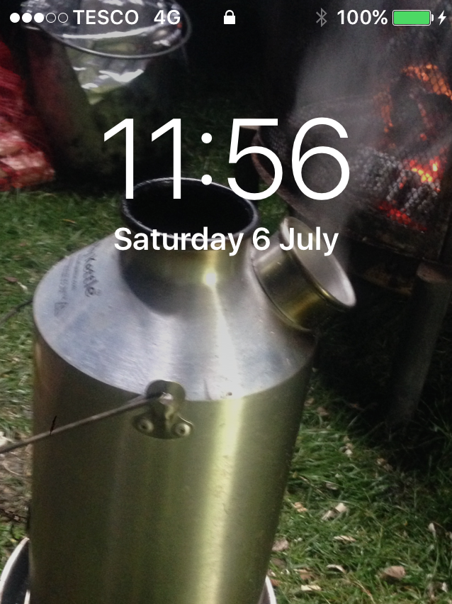 I use my Kelly kettle on scout camp but was very happy with this picture that I made it my screen saver on my phone lol I know it's sad but any free kit win will go to my scouts cause without them I would not have a Kelly kettle.