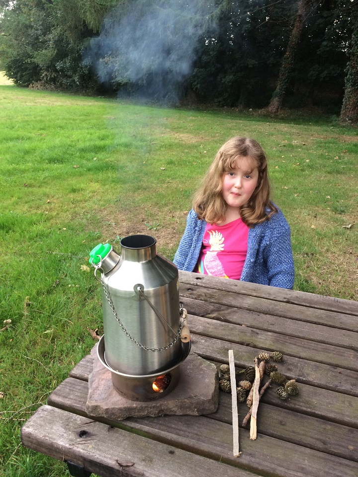 My Grandchildren love a day out with the Kelly Kettle, there favourite is Hot Dog's cooked on the Hobo Stove.