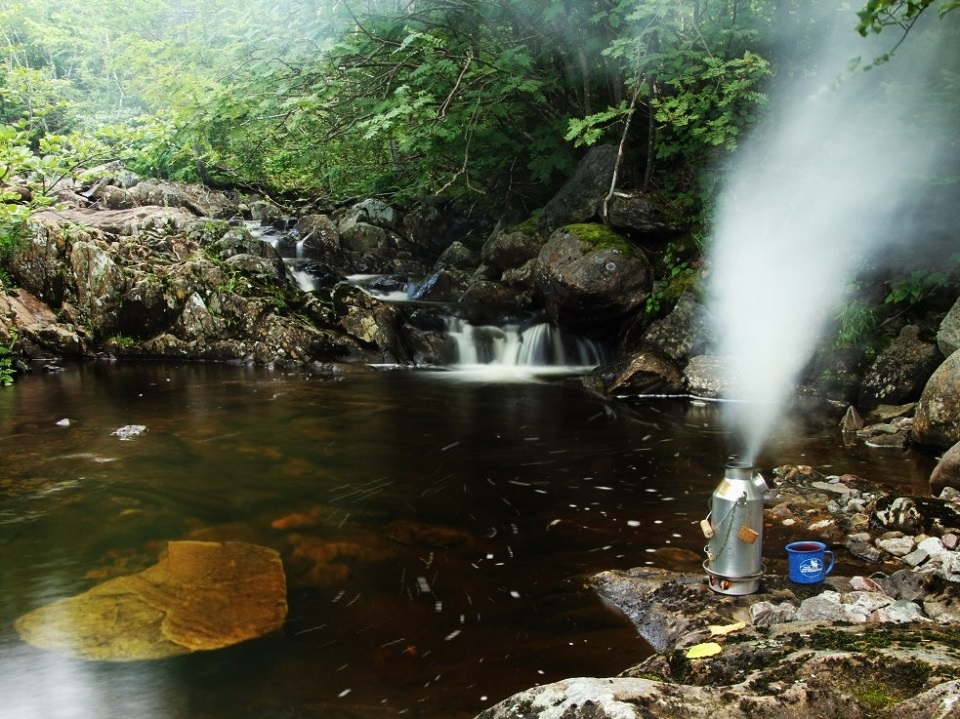 There's a great fire in the Trekkers soul.  Picture taken at Pipers Hole River Provincial Park, Newfoundland, Canada