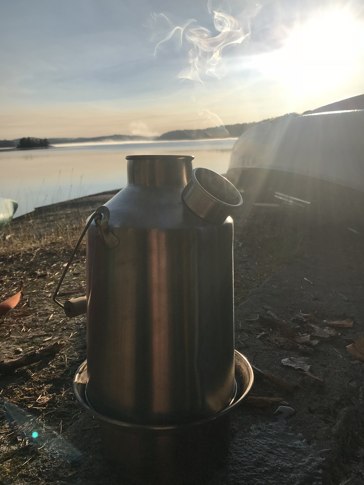 I spend my summers guiding canoe trips in the Canadian Wilderness. Each day starts out with a Kelly Kettle boil for coffee. It is my favourite piece of gear.