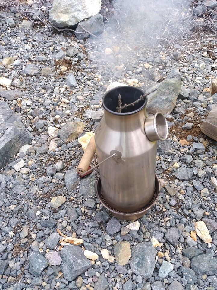 My hubby and I jump on the quad and we would go riding for hours, find a pond then pull over and break out our Kelly Kettle to have with our lunch. So convenient and makes the best cup of tea in the world!  Nothing better than a pond, a Kelly Kettle and just sitting back and enjoying the nature of this beautiful world around us!