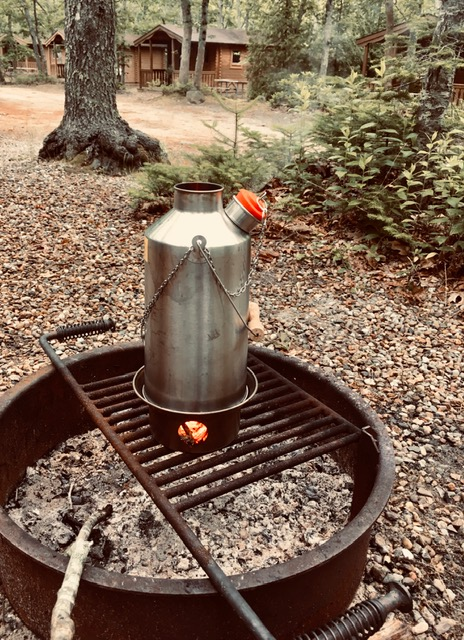 Camping trip to Martha's Vineyard, MA 2019 and the coffee's almost ready!