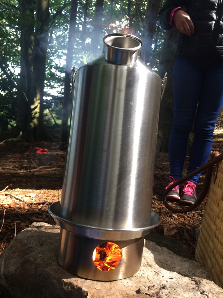 Enjoying the outdoors all the more with a well deserved cuppa from my Kelly Kettle. (Cork, Ireland)
