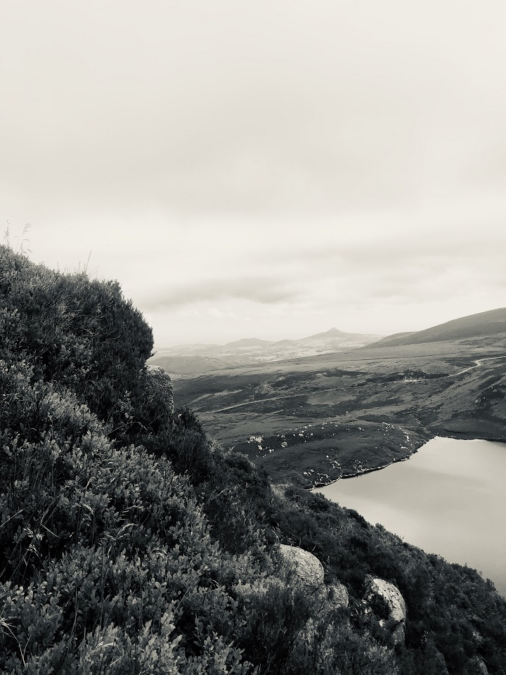 A beautiful trail up trough the lough to the top of the peak. Lough Bray, Wicklow, Ireland