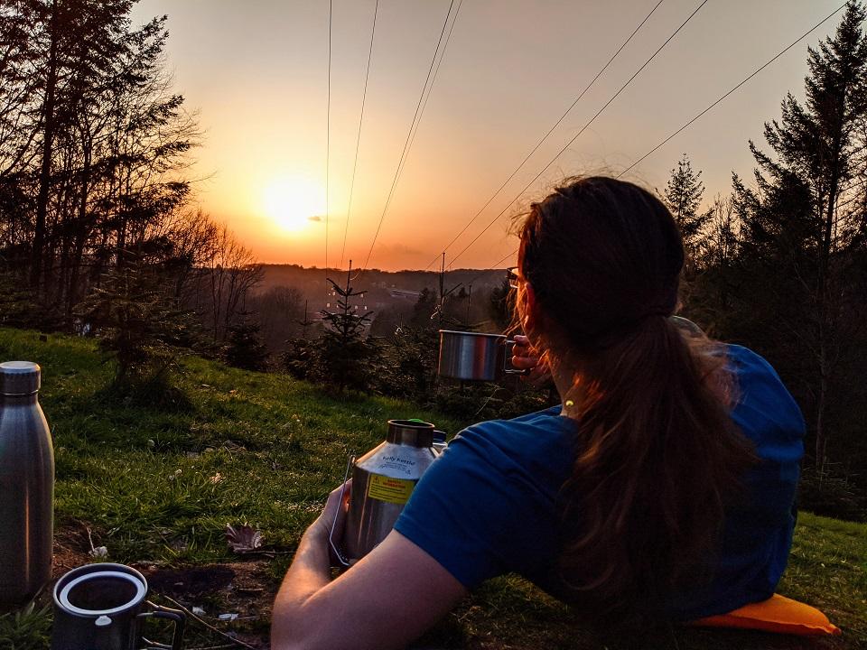 Enjoying evening tea in the nature!  (Saarbruecken, Germany)