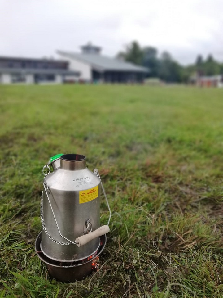 We use our kelly kettle everywhere! Family camping this summer as we can't camp with our scout troop. The kelly scout still with us though! (Cavan, Ireland)