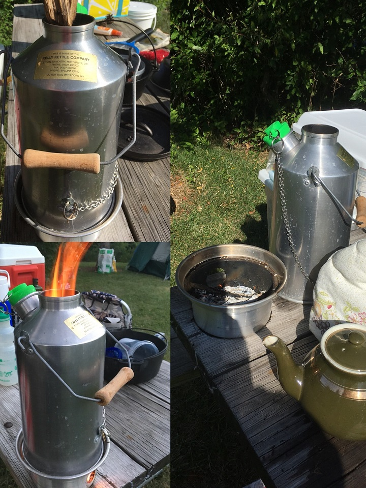 Nothing like a hot cuppa in the morning. And when you car camp, you have space for the Kelly Kettle, teapot, and tea cozy!  (Maumee Bay State Park, Ohio USA)