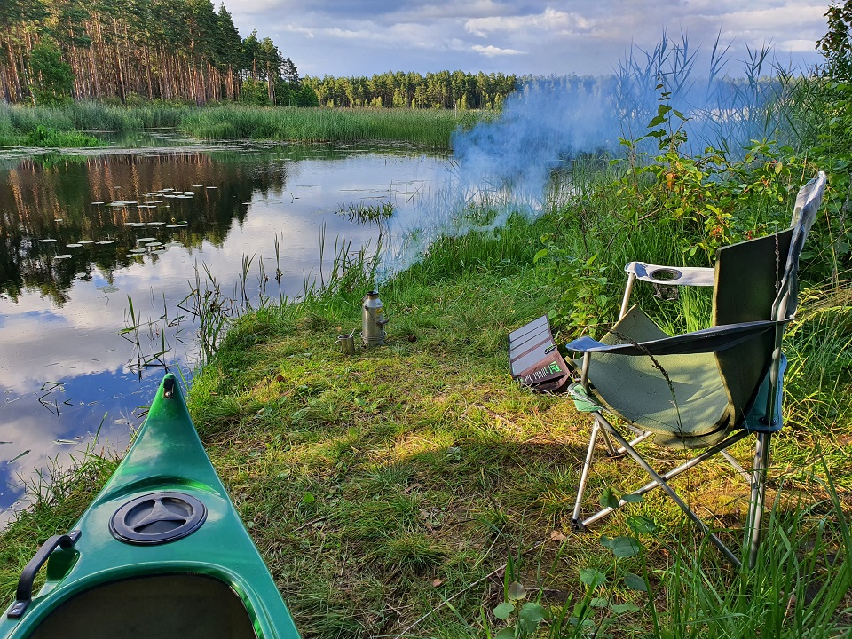 The picture was taken on a phone while on a five-day canoe trip (In Estonia and by Lake Endla)