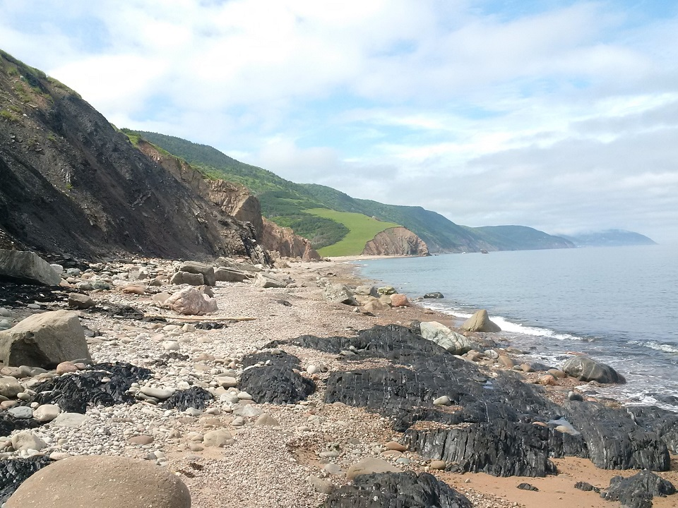 Stunning panoramas greet you at Polletts Cove after an arduous 9 km hike through rugged Cape Breton highlands coastal bush. What a gorgeous spot to enjoy a hot drink from a Kelly Kettle!