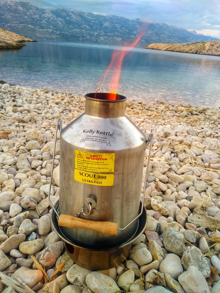 We went camping for 4 days, and it wouldn't be the same without the Kelly Kettle. Hot soup, beans, coffee, you name it, with a Kelly you can do everything! :)   (Pic taken Vinjerac, Croatia)