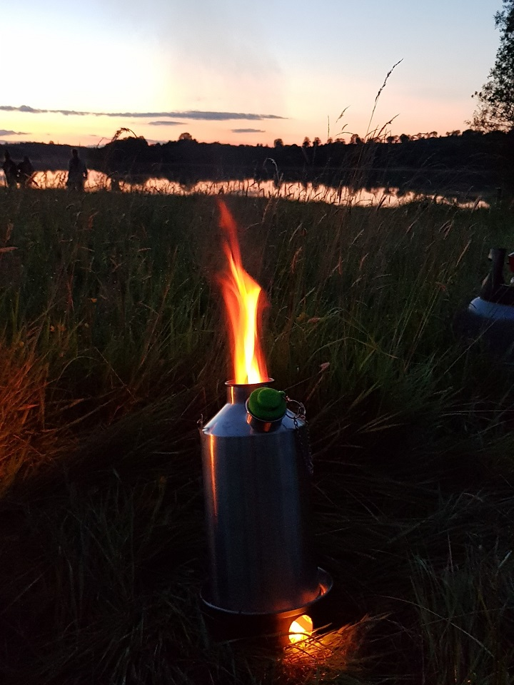 My Kelly Kettle is the best! After a great day outdoors it made a fine coffee. (Lough Gowna, Co. Cavan, Ireland)