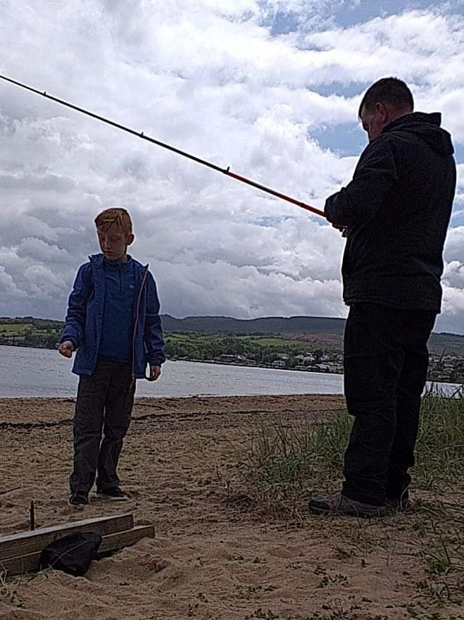 My son learning how to wild camp with his dad - Isle of Aaran, Scotland