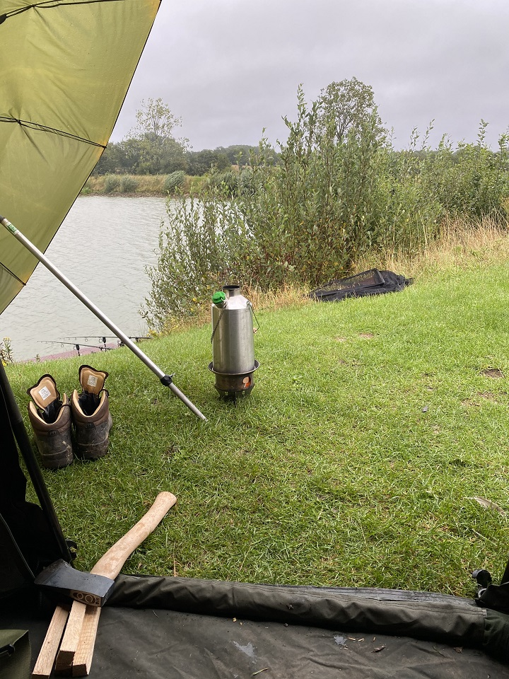 Wind rain or shine, my Kelly kettle always comes fishing with me (Kettlebaston, Suffolk, U.K.)
