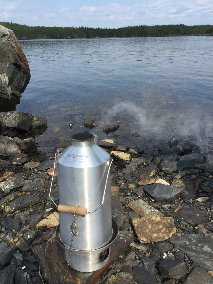 "Saltwater Joys.  Celebrating a special birthday ""mug-up"" (Burnside, NL Canada)"