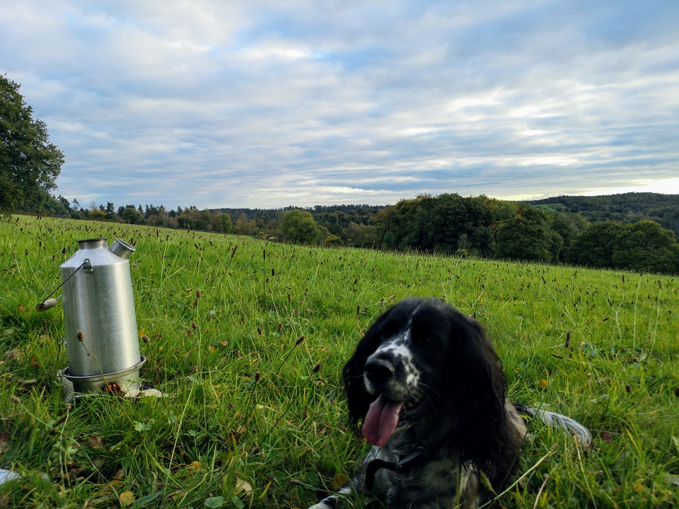 Relaxing with a hot chocolate after a long walk and soaking up the views over the Churnet Valley. (Staffordshire Moorlands, U.K.)