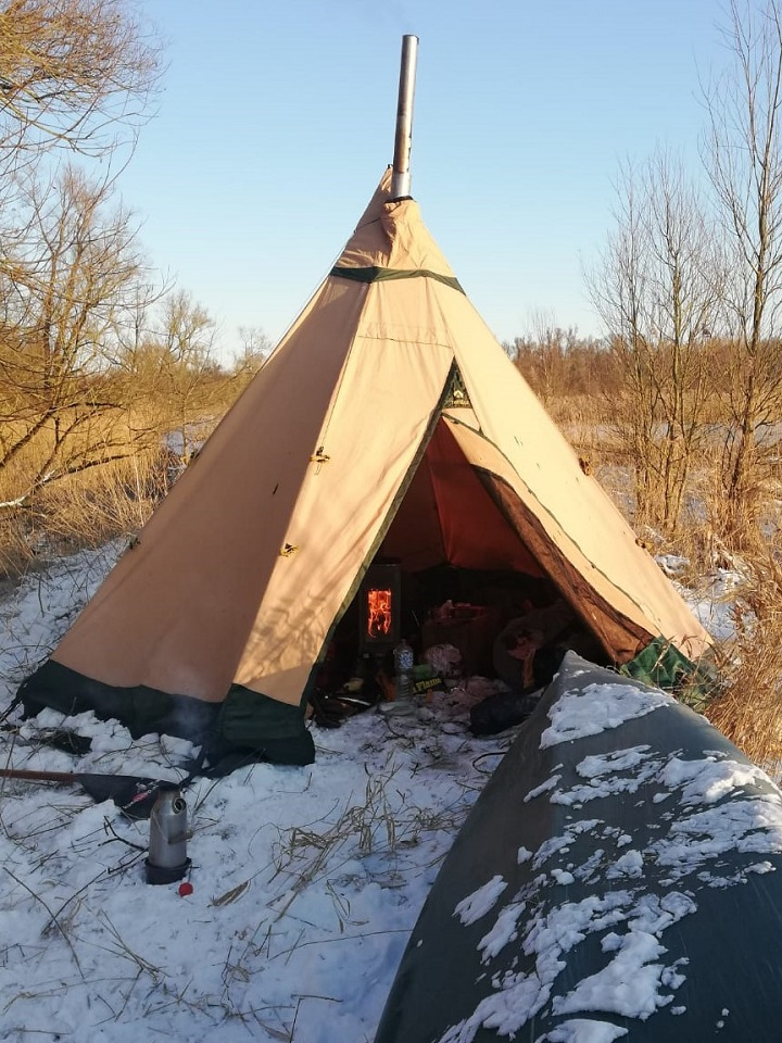 Every year we go on a canoe trip. this year it was minus 10. but it was loads of fun. (Netherlands)