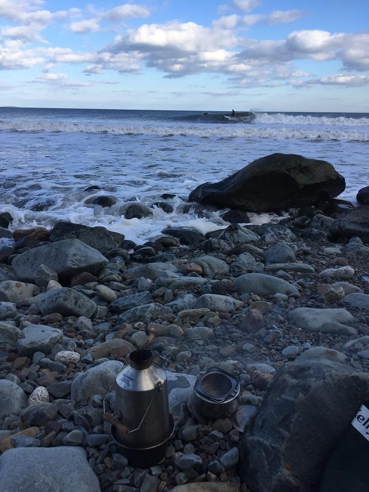 Frothing. Feb 24  (Cow Bay, Nova Scotia, Canada)