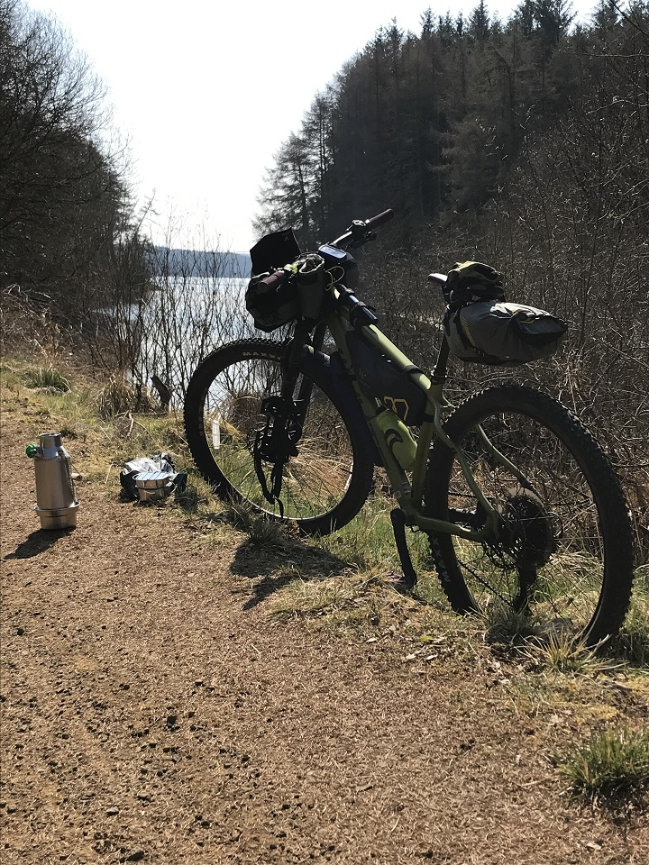 This was my first time out trying all my new bike packing kit. I had heard about Kelly kettles but never used one.   It was easy to use and quick to boil Perfect!