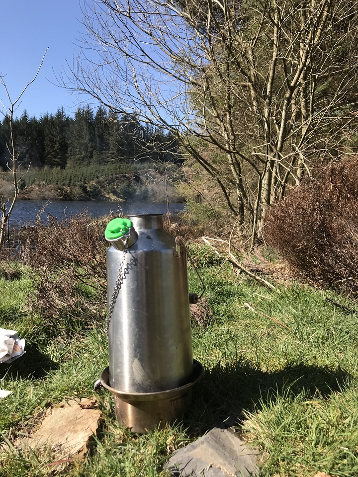 First trip out after lockdown. Brew with my favorite view.  (Llyn Brennig, Wales)