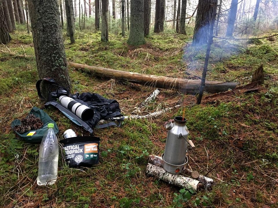 Nature photographer's lunch break. (Alam Pedja Nature Reserve in Estonia)