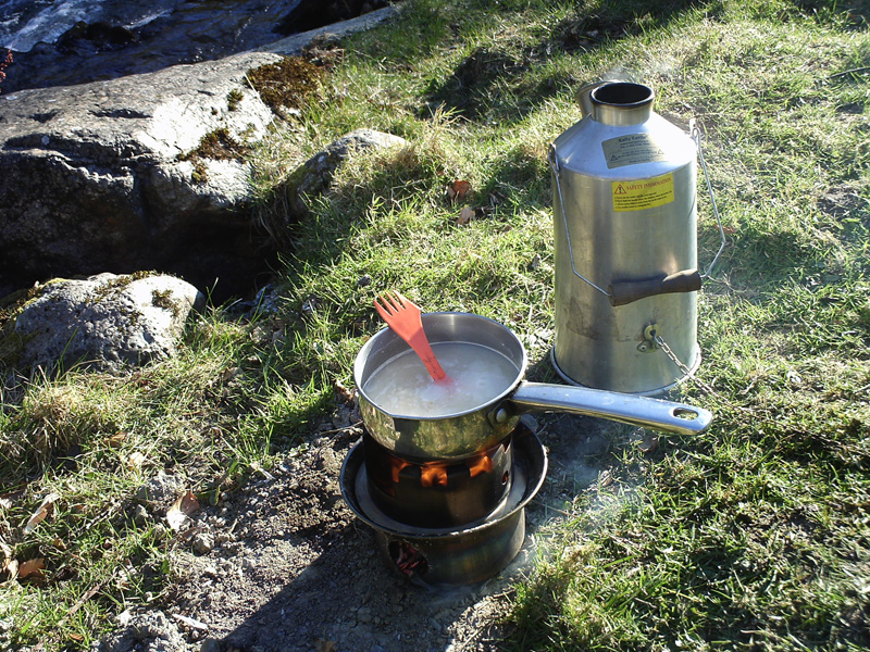 Early Morning Breakfast on the Hobo Stove