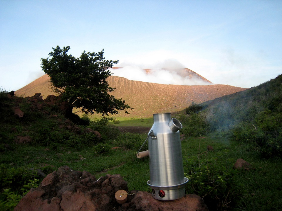 I really like the kelly kettle, my girlfriend gave it to me as a birthday present when I was working as a mountain guide in Nicaragua, and I have been using it since then. Here's a picture of the kettle on the Telica Volcano base. cheers B