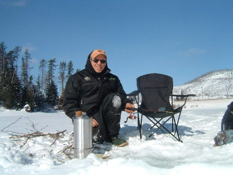 Ice Fishing with Kettle (Frank Chisholm)