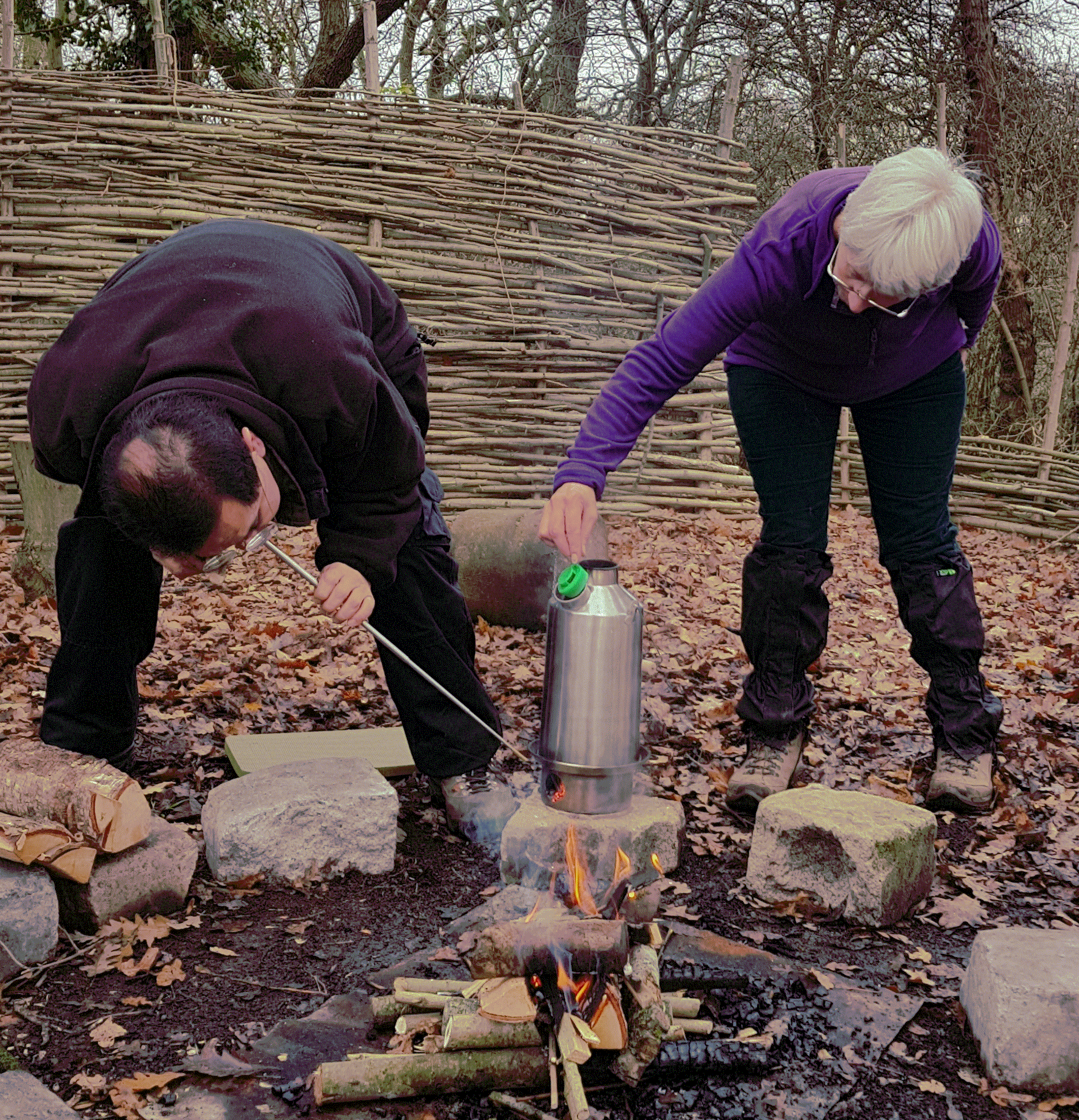 Over 55's Adult Explorers Group Brewing Up :-)
