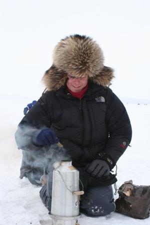 Sakhalin Ice Fishing Temp -28C