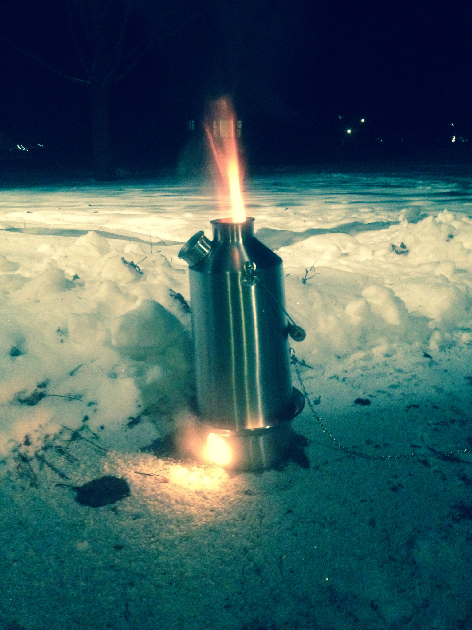 Boiling water at -23 Degrees Celsius, Illinois Jan.2014